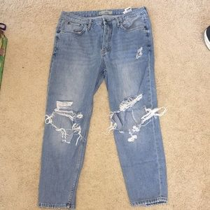Topshop distresses boyfriend jeans